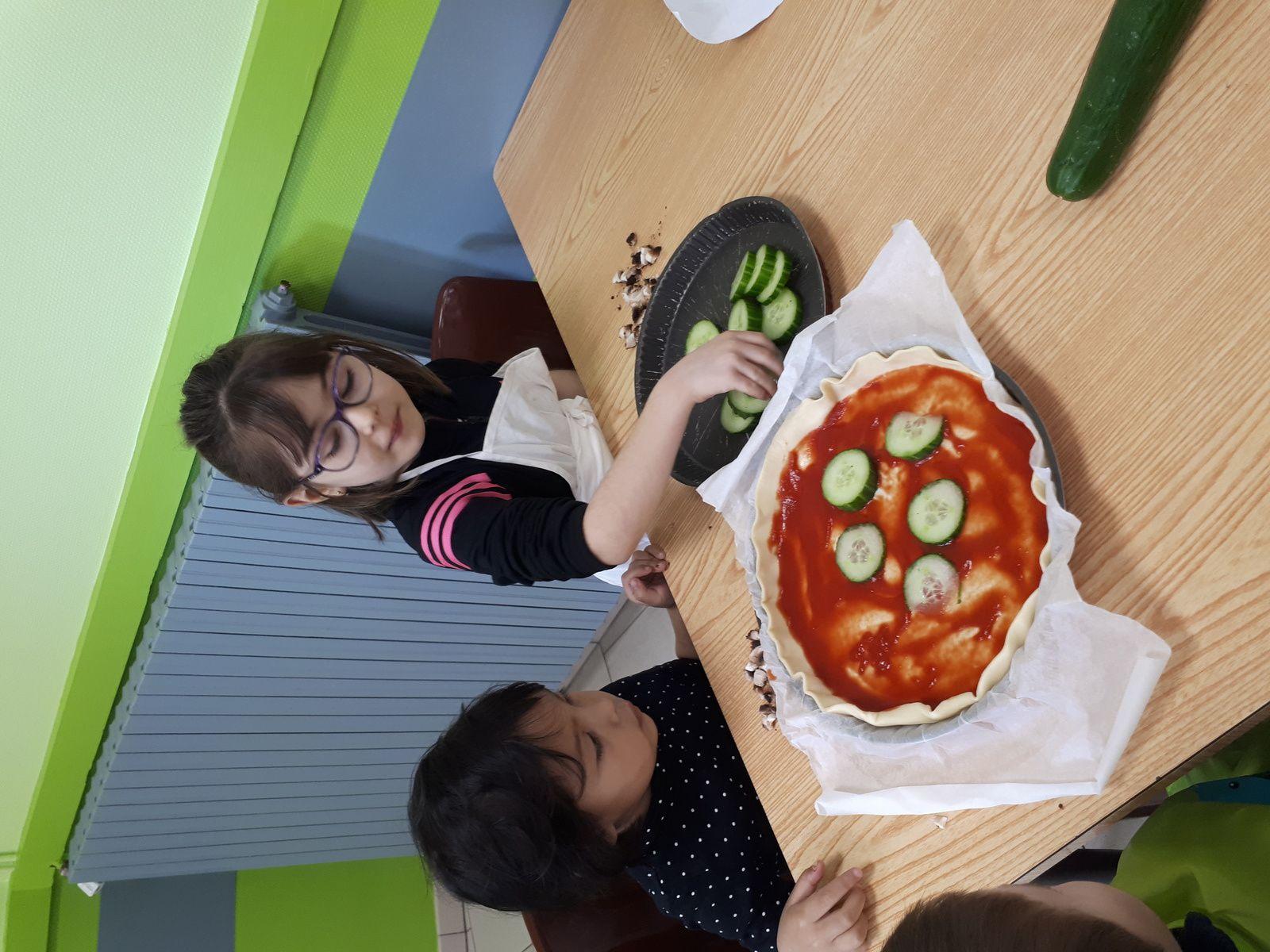 réalisation des pizzas