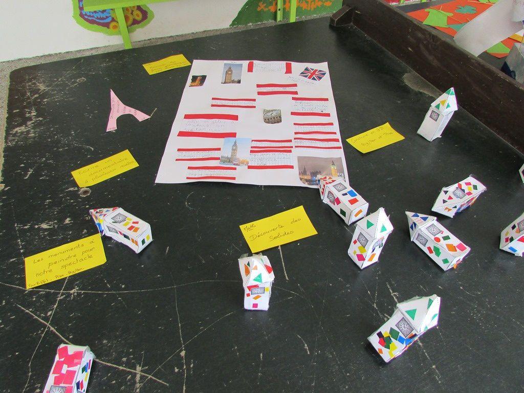 Exposition des réalisations des enfants de la maternelle au CM2, autour de l'Europe