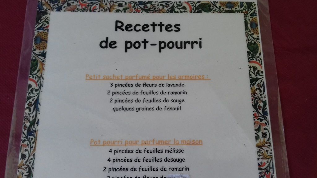 Confection du pot-pourri