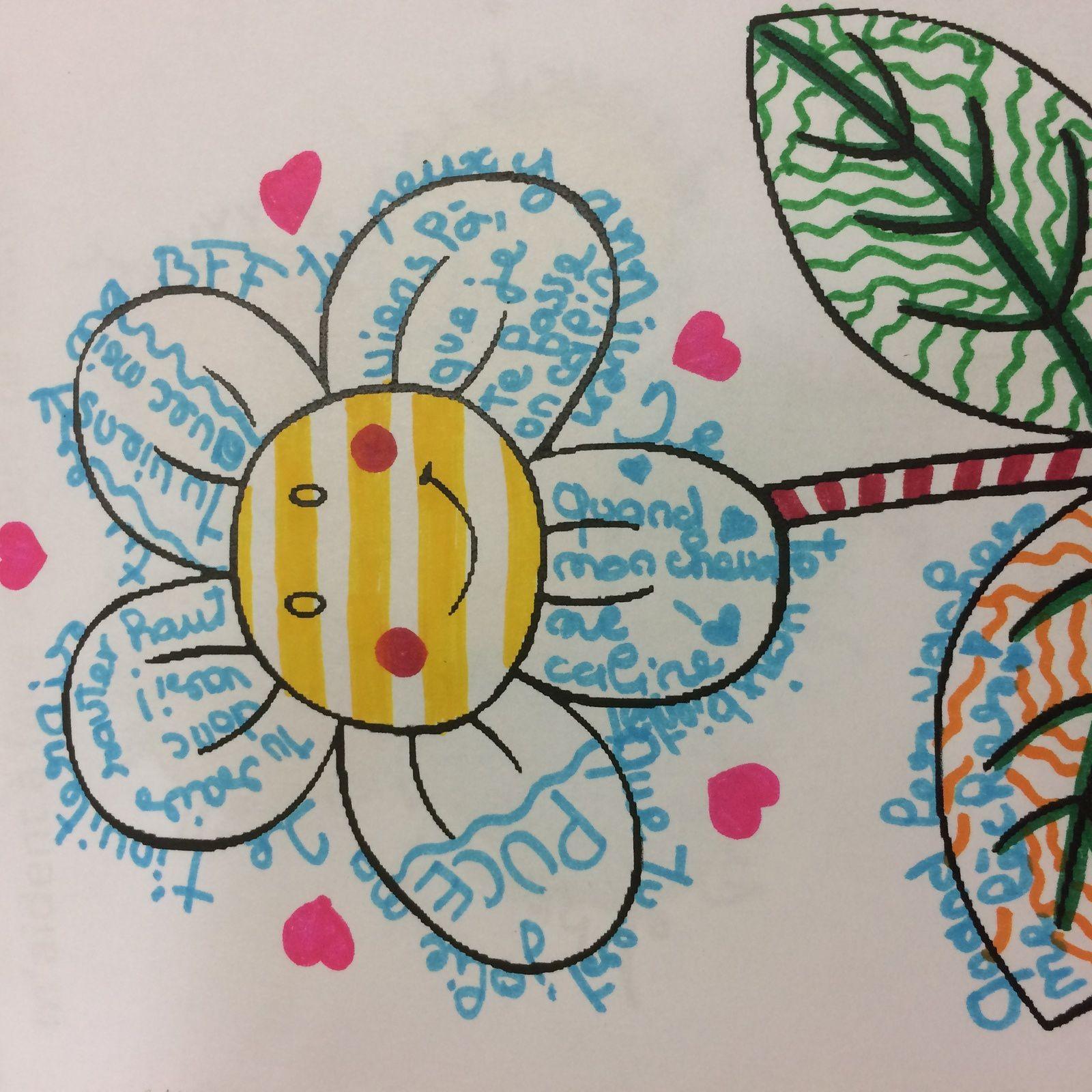 Les fleurs des encouragements...