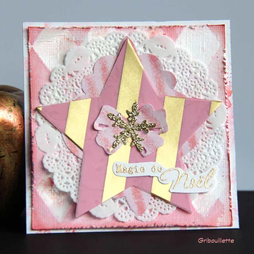 En attendant la nouvelle année... 1 jour/1 carte#6_modèle rose
