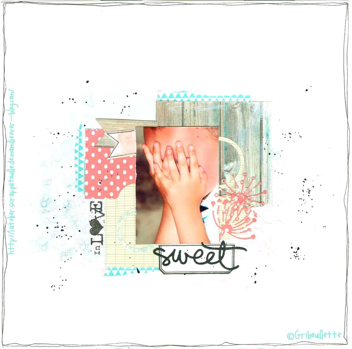 Page de scrap_Sweet