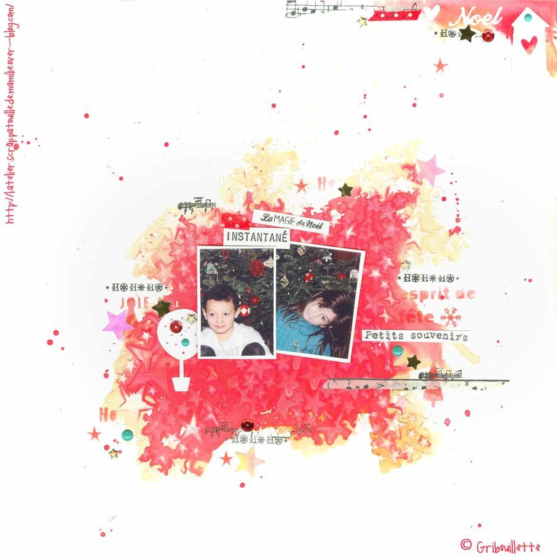 Page de scrapbooking_Petits souvenirs_Challenge#février#Fil&Scrap