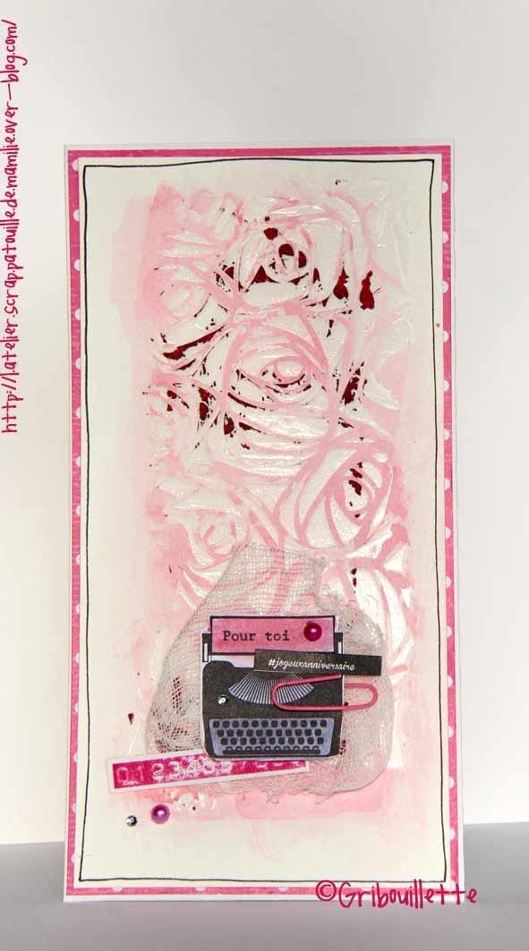 """Carte """"Pink Scribbles"""""""