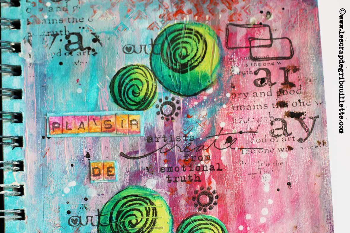 """Art Journal """"Plaisir de créer""""_Détails"""