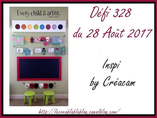 Défi#328 d Créablablablog_Inspiration Rentrée scolaire