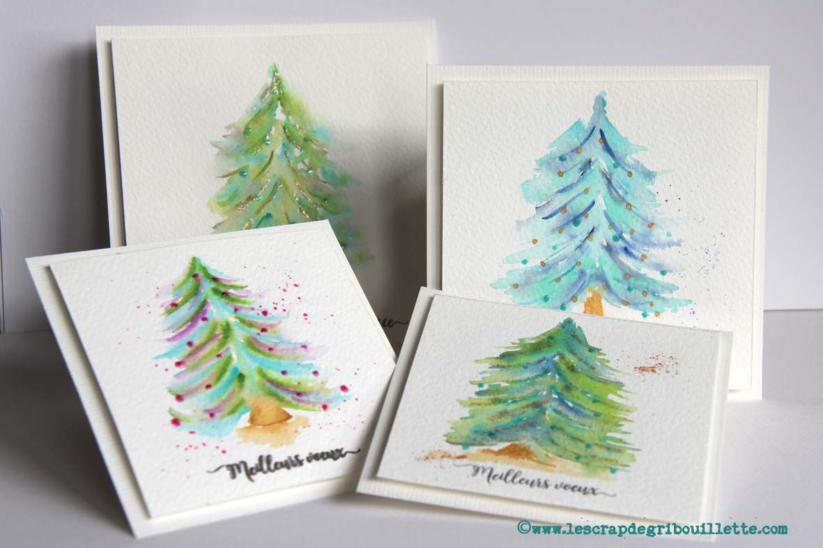 Watercolors cards