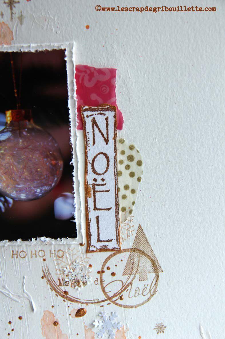 Page de scrapbooking_Noël_Défi Sketch de ScrapandCo