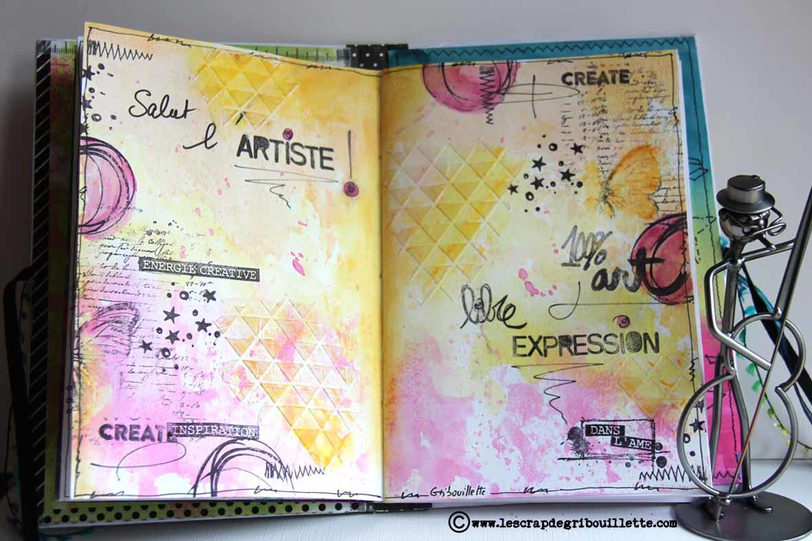 Secret Art Journal#Salut l'artiste