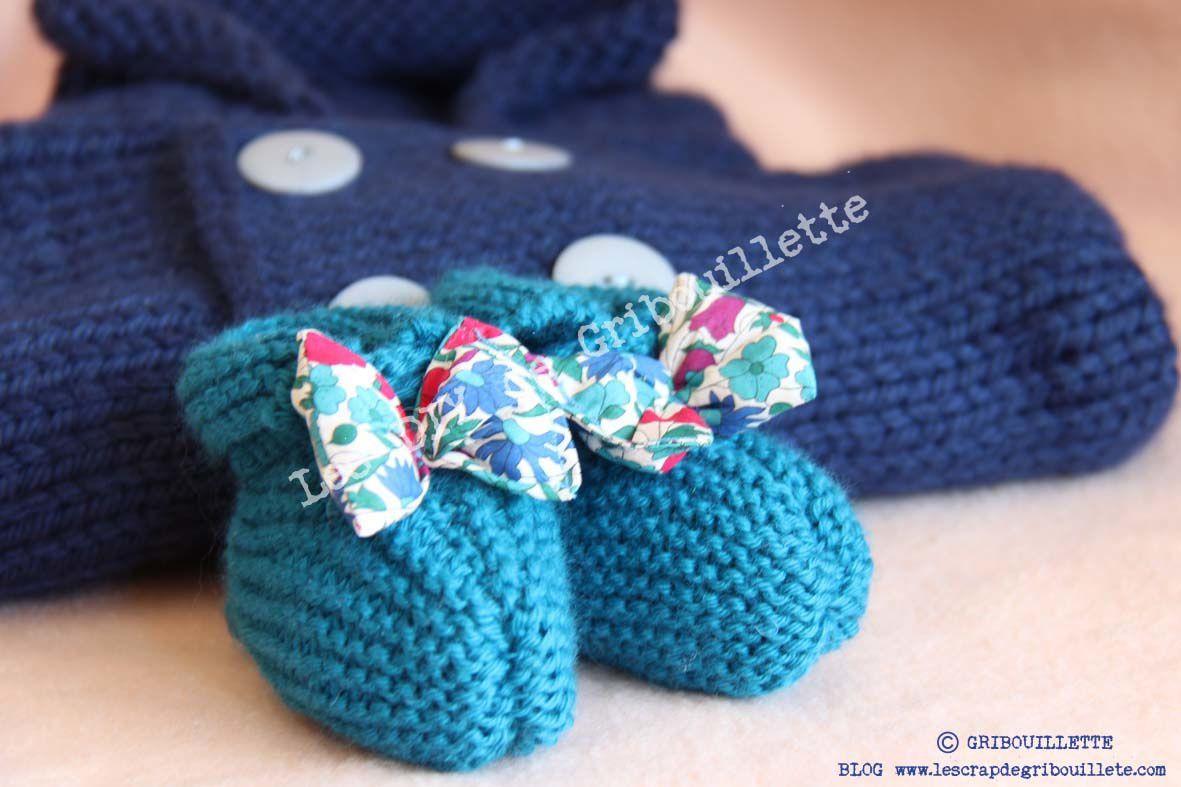 """Chaussons pour bébé à nœud """"Pap"""""""