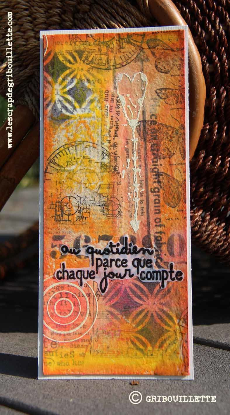 Carte#Mixed-Media#Collage#Citation
