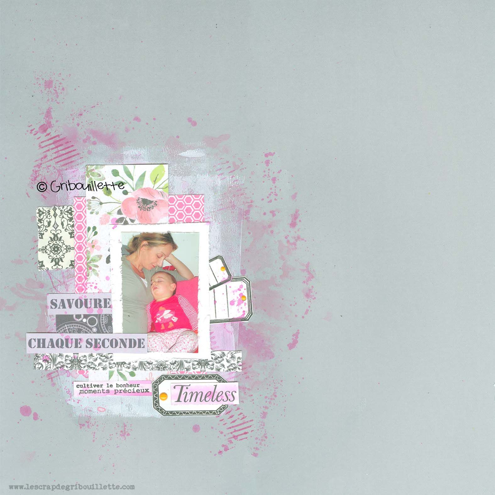 Timeless_Page de scrapbooking_Sketch_La Compagnie des Elfes