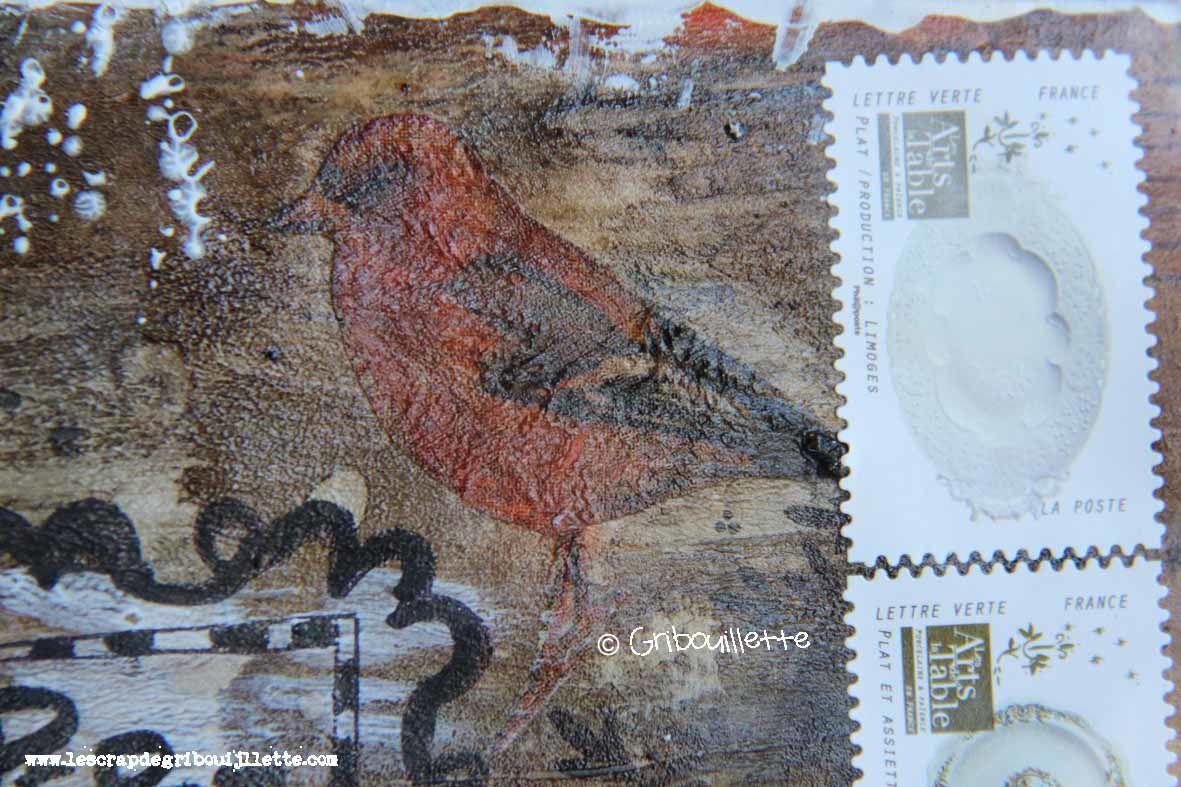 Mail Art_Les oiseaux de couleurs_Recto