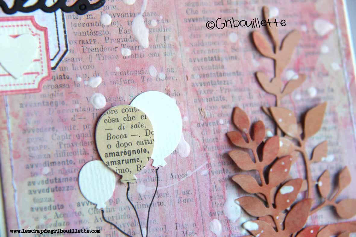 """Carte anniversaire """"Bouquet de ballons"""""""