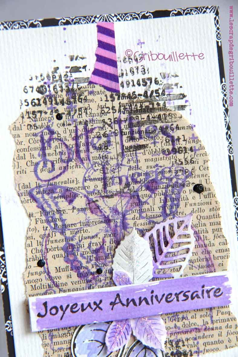 Carte Look Vintage_Défi Mood board sur Scrap&Co