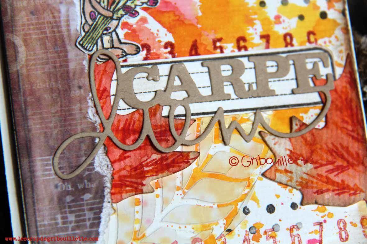 Carte_Ode à l'automne_DT Scrap&Co_Défi La Cie des Elfes