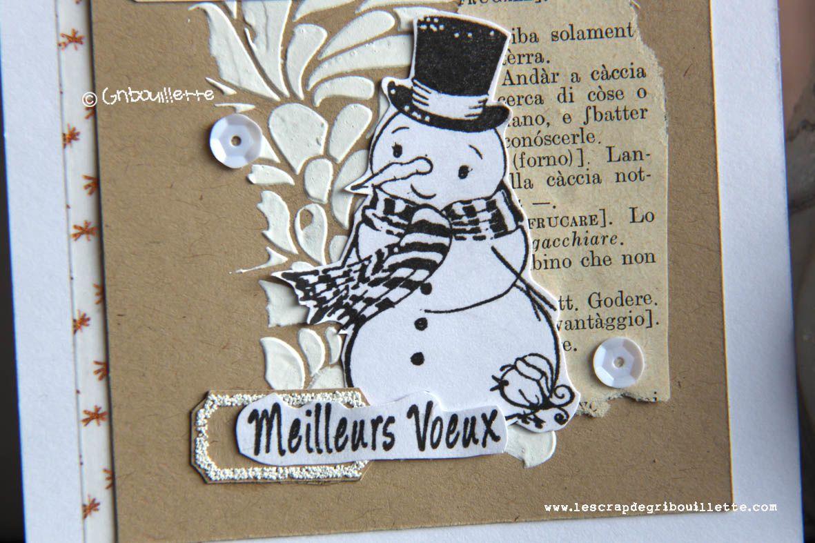 Carte et son bonhomme de neige_Détails