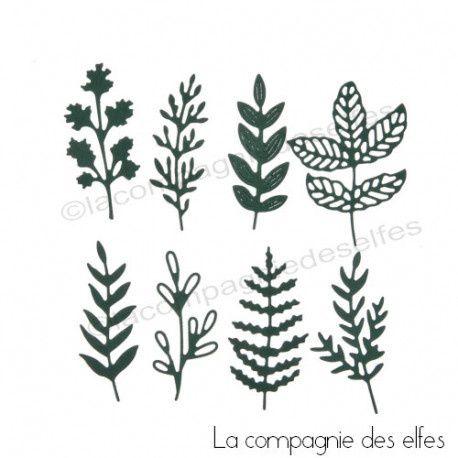 Dies#Boutique#La Compagnie des Elfes#Dies 8 feuillages