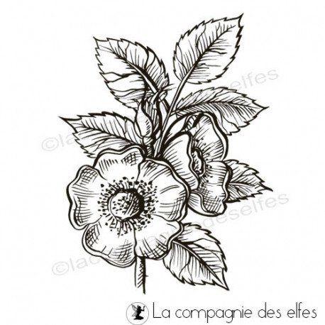 Tampon_La Compagnie des Elfes_Fleur d'églantier