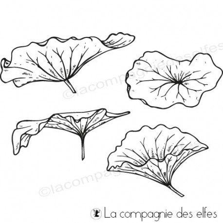Tampon_Feuilles de lotus_La Compagnie des Elfes
