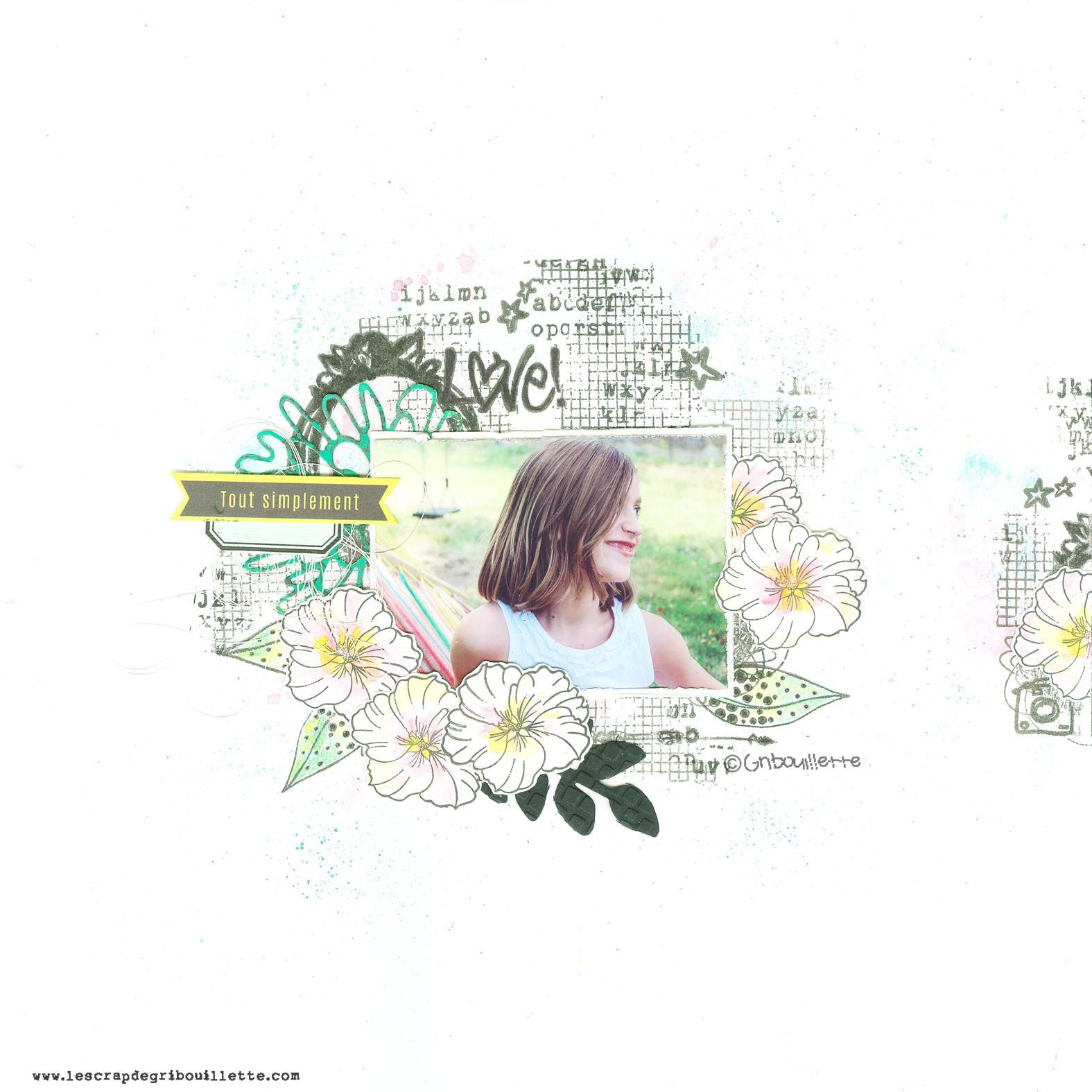 Page Scrapbooking_Tout simplement