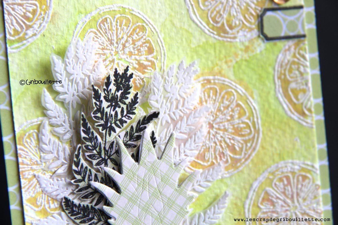 """Carte """"Ananas et citron""""_Invitée Créative_La Compagnie des Elfes"""