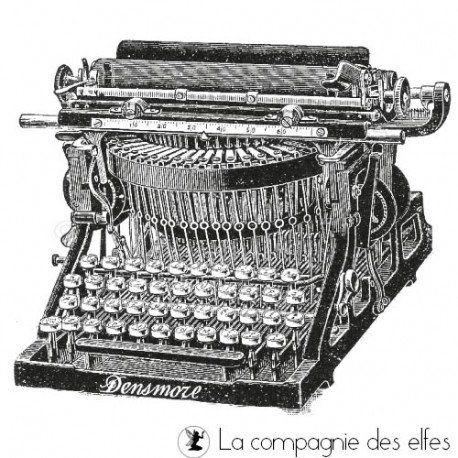 Tampon de La Compagnie des Elfes_Machine à écrire Héritage