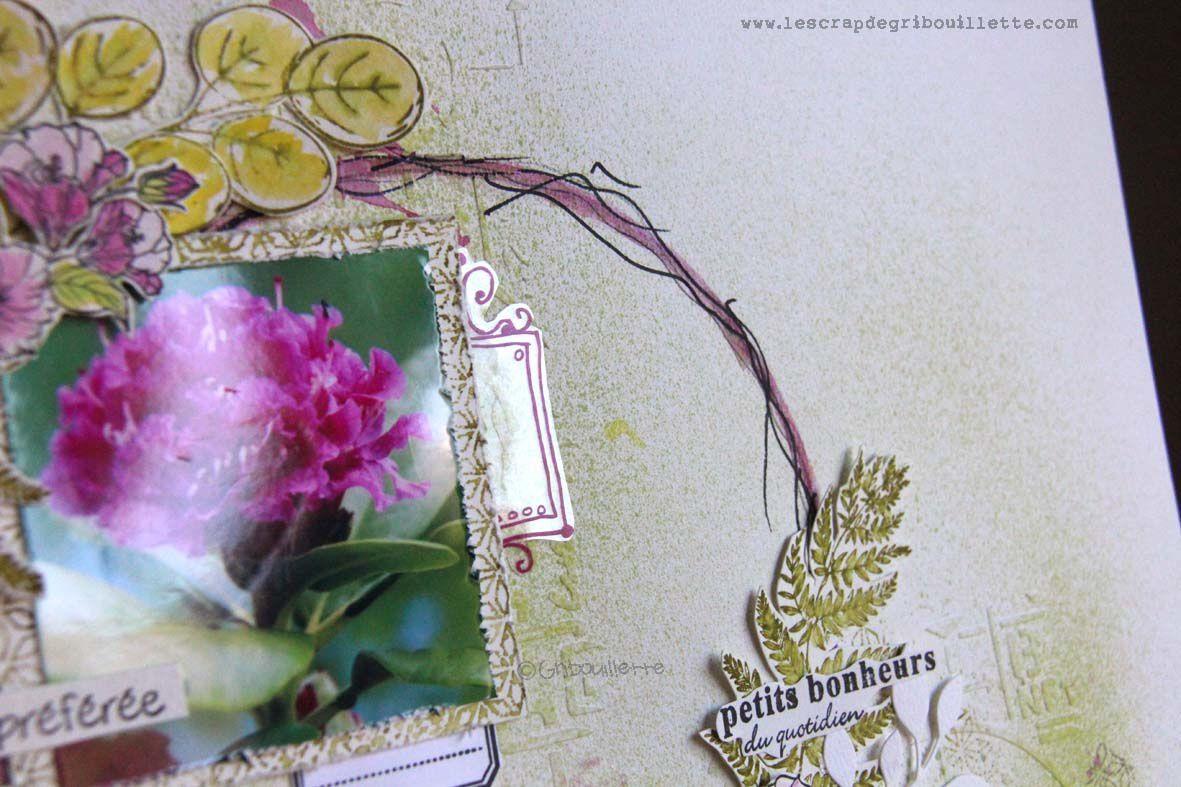 Ma fleur préférée_Page de Scrap_Invitée Créative de La Compagnie des Elfes