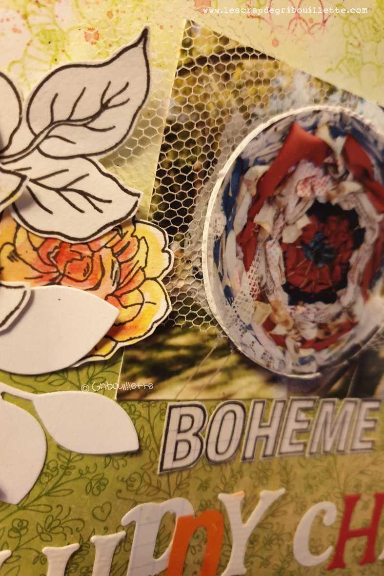 Bohème Hippy Chic_Page scrap_Sketch Tounoi Scrap&Co_Défi#4