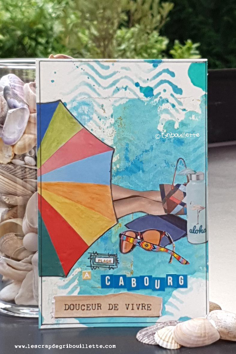 Cartes sur un air de vacances_Collage en Récup