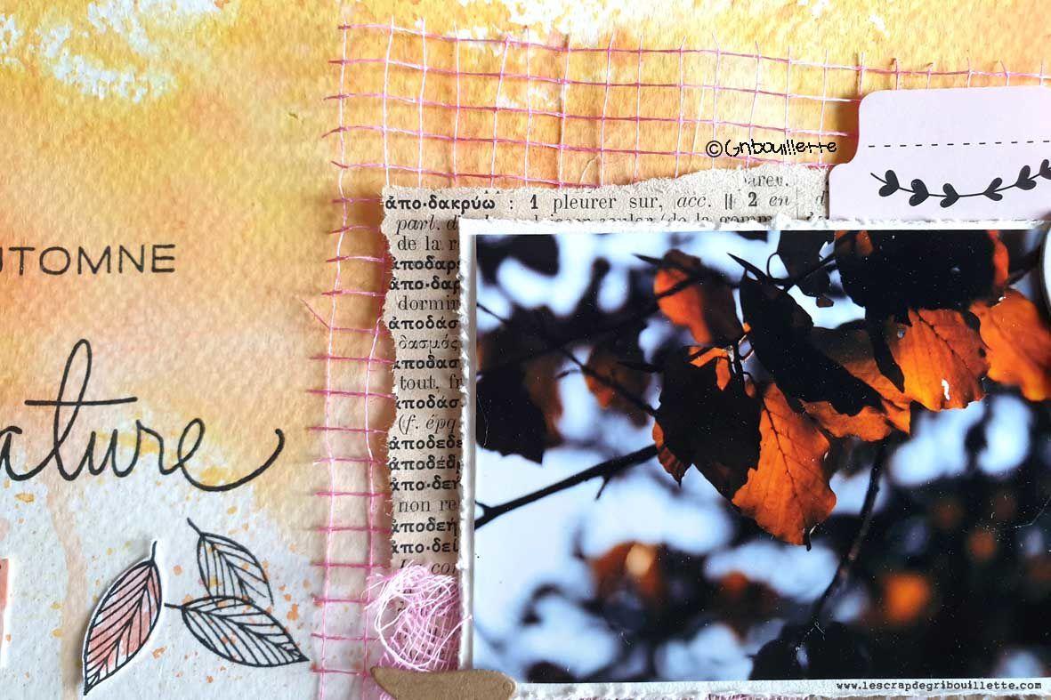 L'automne est là_Gribouillette_DT Scrap&Co_Challenge récompensé