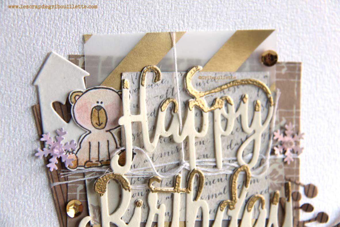 """Carte """"Happy Birthday"""""""