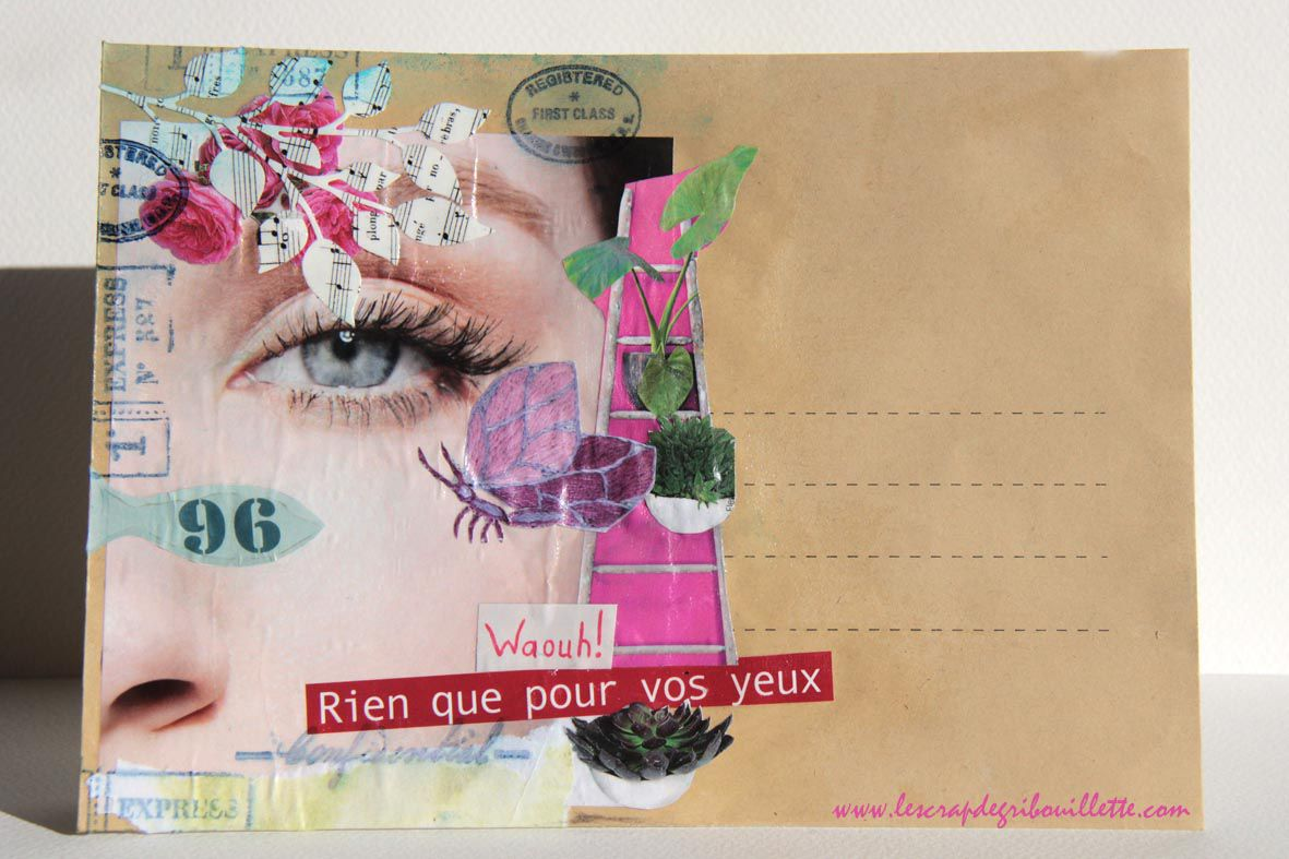 Mail Art#1_Collages sur Visage