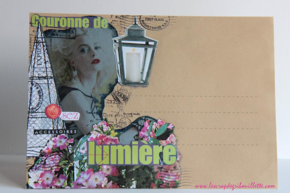 Mail Art#2_Collages sur Visage