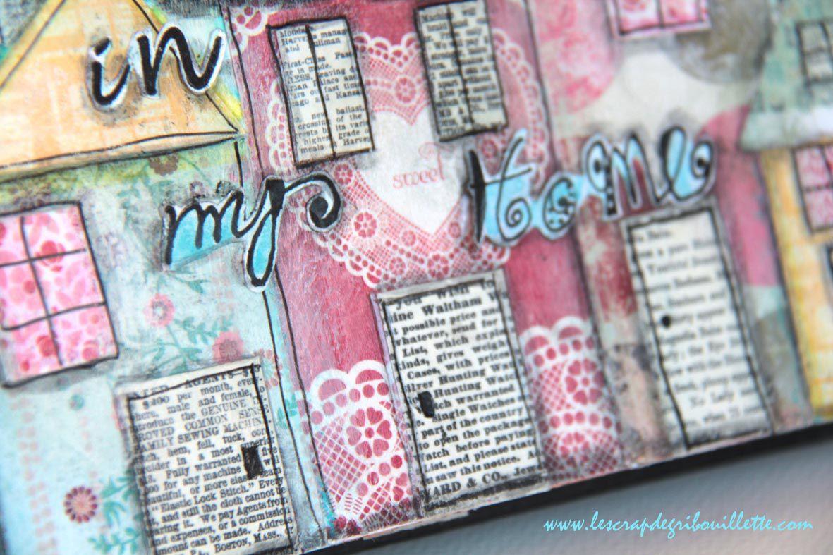 Stay in my Home_Art Journal_Mixed Media en toute amitié_1