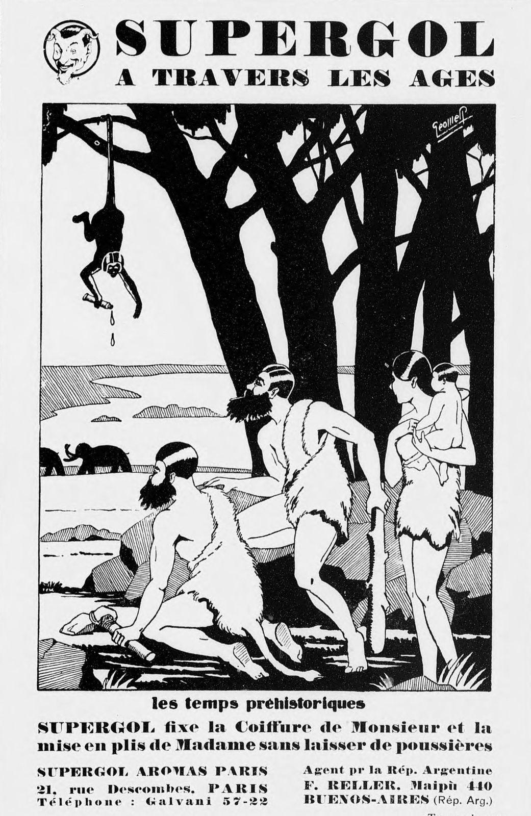 Publicité « Supergol — Les temps préhistoriques » (1929)