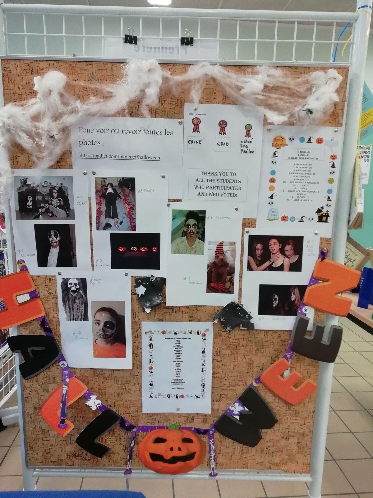 Concours photos d'Halloween - résultats et exposition