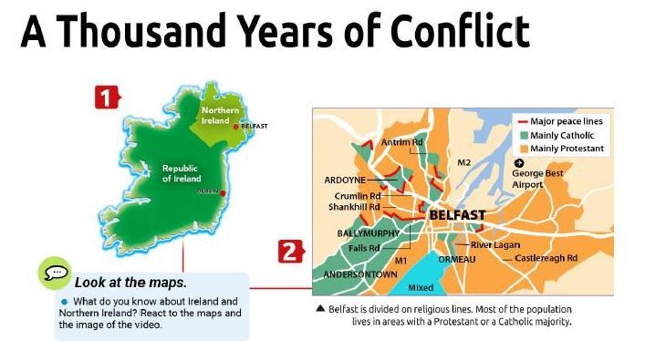 the Northern Ireland Conflict seen trough videos and songs