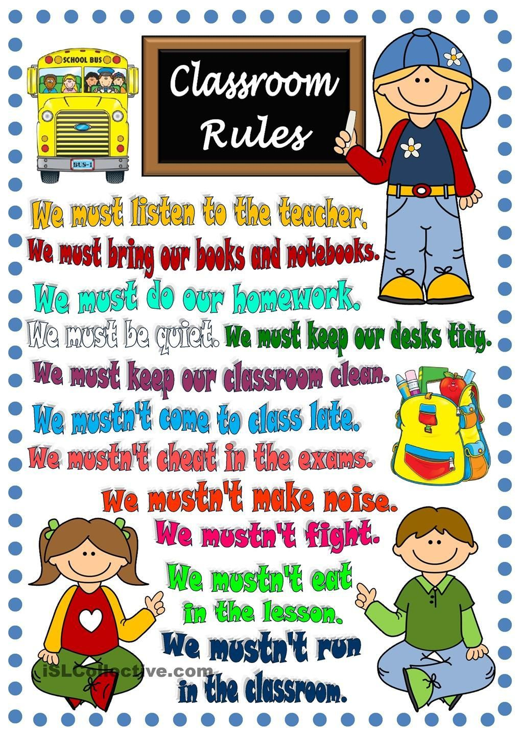 Yes or No:  RULES, RULES, RULES!