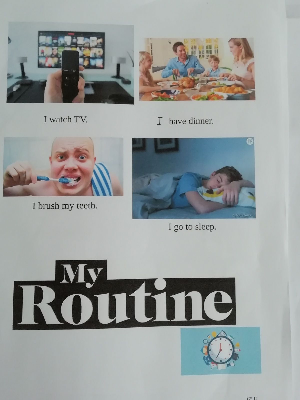 My daily routine..