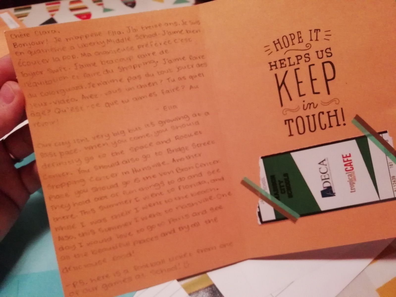 Penpals' letters from Alabama, USA!