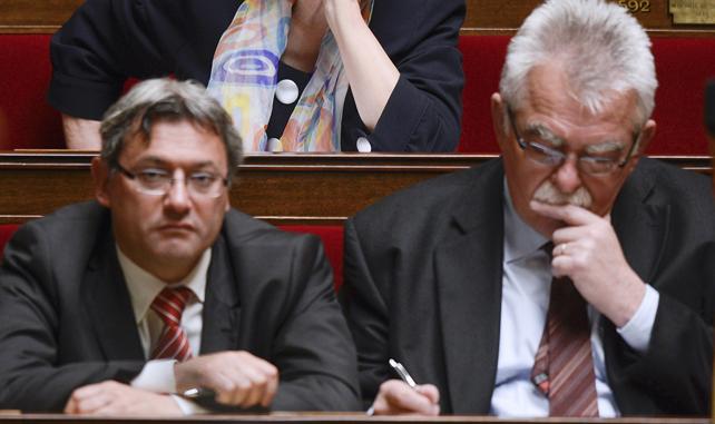 Nicolas Sansu et André Chassaigne tout deux députés communiste