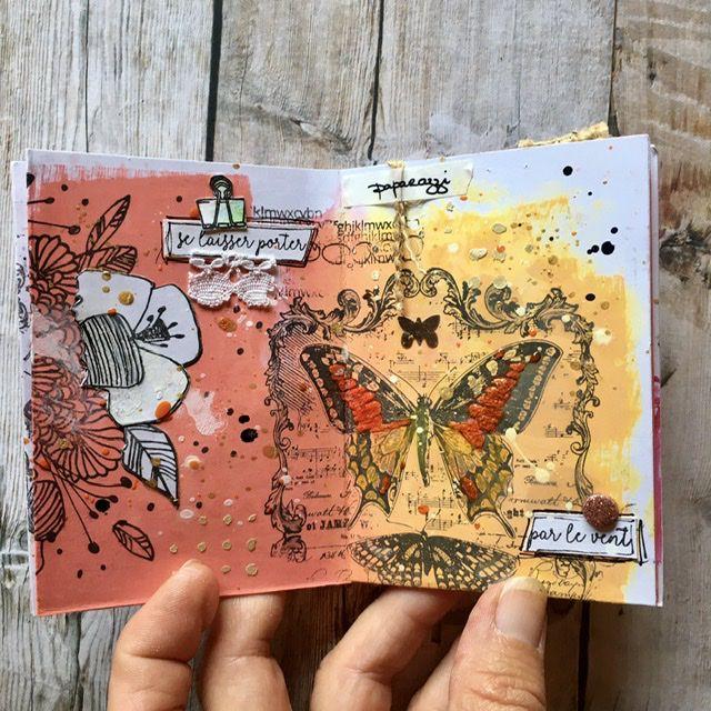 Art journal encres distress oxide... suite