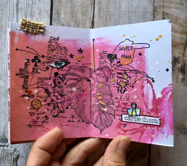 Art Journal avec encres distress oxide