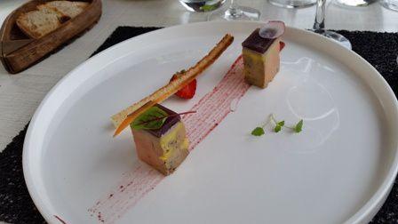 foie gras à la gelée de sangria et fraises