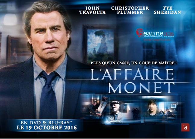 L'AFFAIRE MONET avec John Travolta - le 19 octobre 2016 en DVD et Blu-ray chez Atelier d'Image