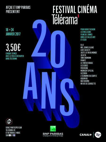 Festival cinéma Télérama 2017 (LA BANDE ANNONCE) Du 18 au 24 janvier - 3.50 euros la séance