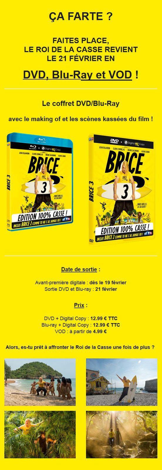 Brice 3 - Le roi de la casse revient en DVD, BLU-RAY et VOD le 21 février 2017 !