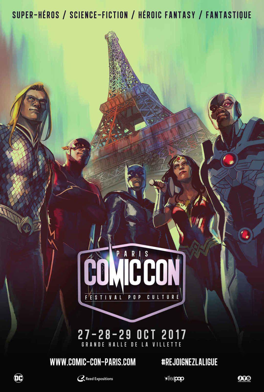 Le Comic Con Paris 2017 dévoile son affiche réalisée par Stéphanie Hans  !