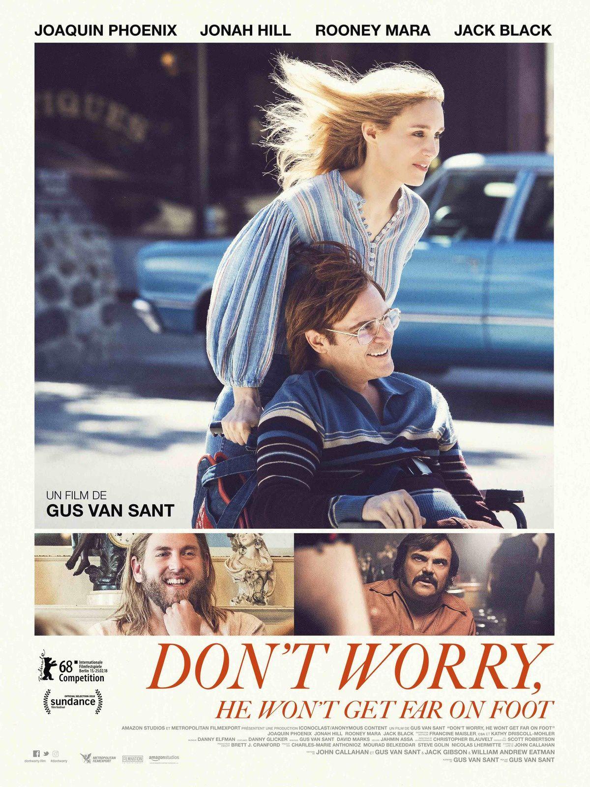 DON'T WORRY, HE WON'T GET FAR ON FOOT réalisé par Gus Van Sant avec Joaquin Phoenix ! Le 4 avril 2018 au cinéma.
